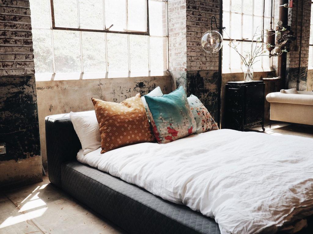 slaapkamer industrieel