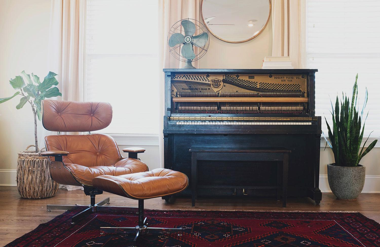 piano kleed stoel